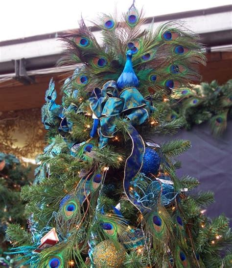 christmas tree topper in love with peacock pinterest