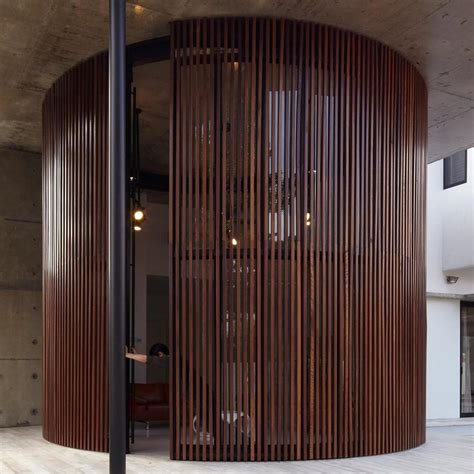 Curved Interior Doors Curved And Stacking Louvered Glass Doors Surround Room In Voila House