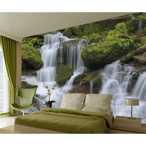 1wall tree wallpaper mural 1wall waterfall wall mural