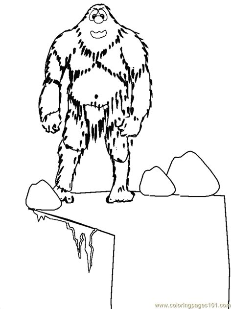 coloring pages abominable snowman abominable snowman coloring pages 227 free printable