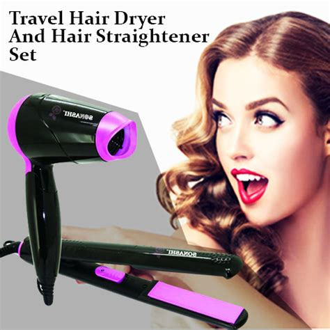 Hair Dryer And Hair Straightener travel hair dryer and hair straightener set shopping