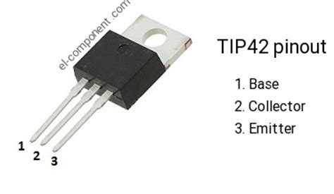tip42 p n p transistor complementary npn replacement pinout pin configuration substitute