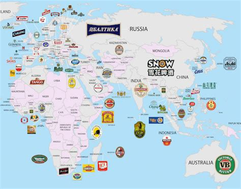 map the most valuable brand in each country in 2018 famous24 the world map the most popular brands in each country