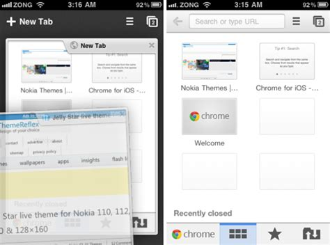 theme chrome ios google chrome for ios review themereflex