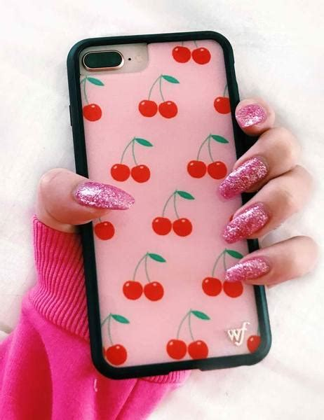 pink cherries iphone   case wildflower cases