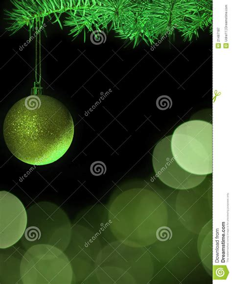green christmas tree with baubles royalty free stock
