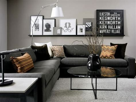 contemporary black and grey living room home interiors