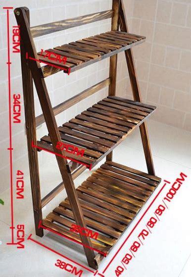 model rak bunga  besi  kayu minimalis