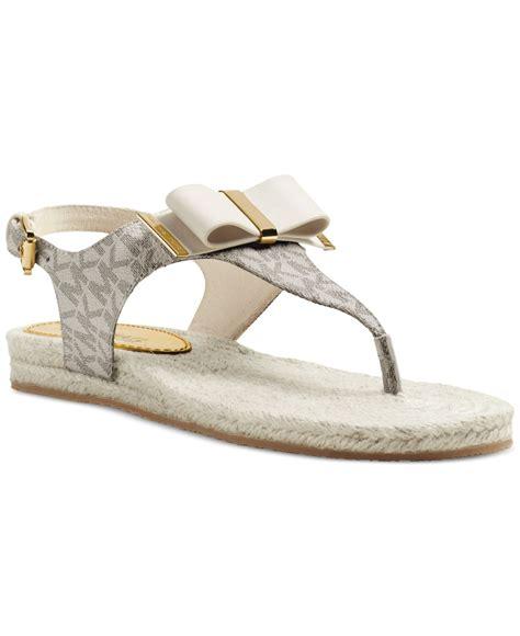 michael kors sandals for lyst michael kors michael meg flat sandals in