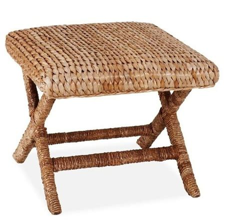 ottomans and stools sea grass stool honey contemporary footstools and