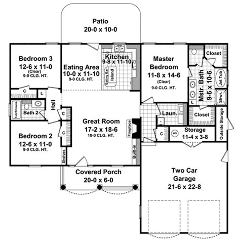 1500 sq ft floor plans house plan 59099 at familyhomeplans