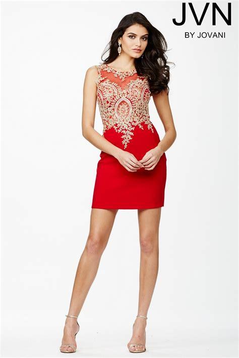 www short jovani jvn32608 sleeveless red short dress madamebridal com