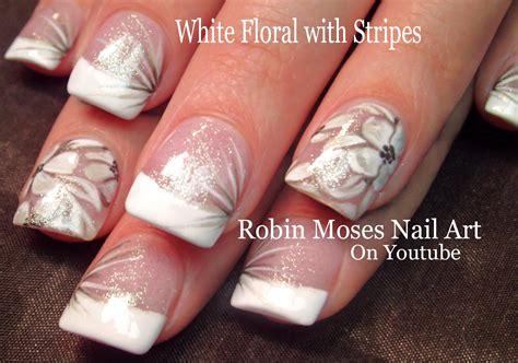 tutorial nail art elegant flower nail design cpgdsconsortium com