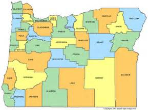 oregon county map or counties map of oregon