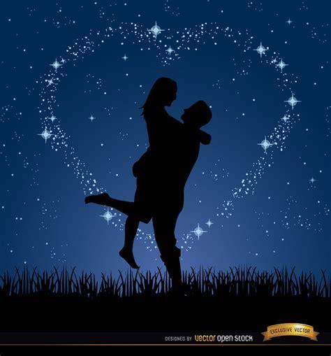 fotos e imagenes de parejas romanticas couple love night stars background vector download