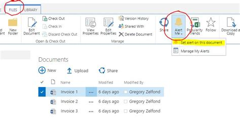 how to a alert how to create sharepoint alerts sharepoint maven