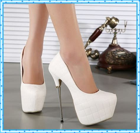 womens high heels shoes 2016 white pumps shoes