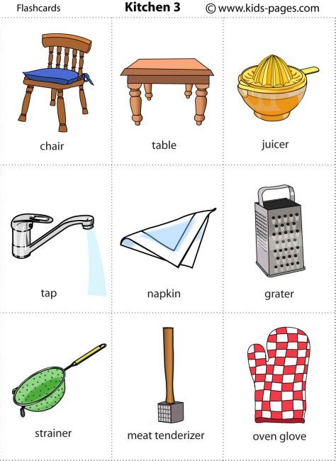 kitchen 3 flashcard