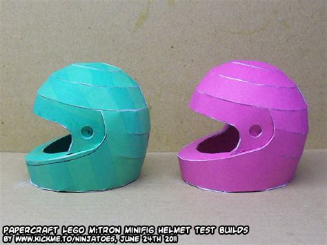Papercraft Helmet - lego m helmet papercraft by ninjatoespapercraft on