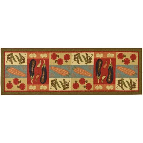 4 X 8 Kitchen Rug Ottomanson S Kitchen Collection Vegetables Design Olive Green 1 Ft 8 In X 4 Ft 11
