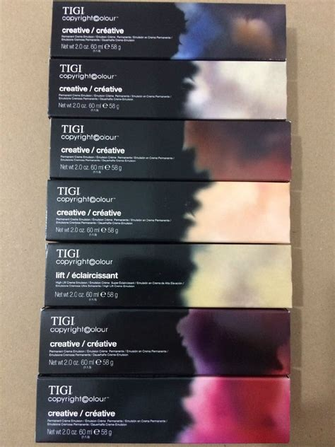 tigi color tigi copyright colour creative permanent creme hair colour