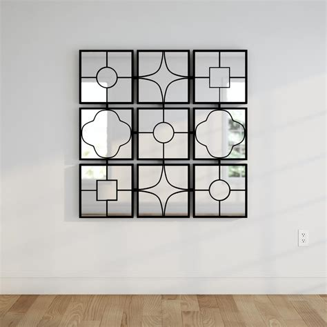 home depot wall decor metal 49 in x 49 in wall decor framed mirror 44521 the