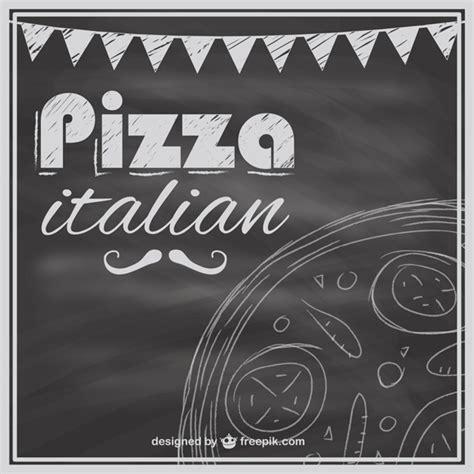 Plantilla de carta de pizzas con textura de pizarra   Descargar Vectores gratis