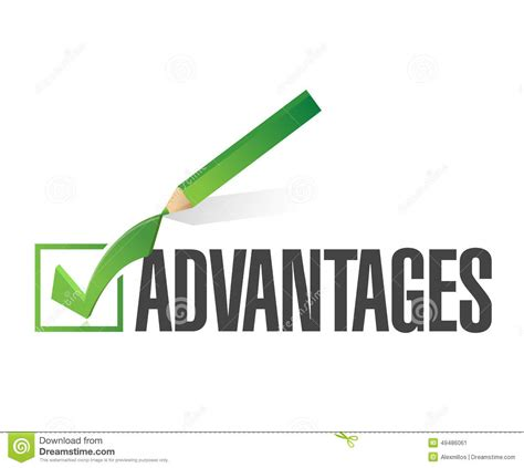 Advantage Background Check Turnaround Time Advantages Check List Illustration Design Stock Image