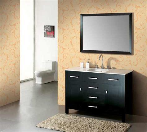 47 5 quot single sink bathroom vanity set dark wood with stone