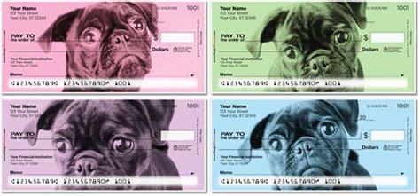 pug personal checks colorful pug checks petchecksdirect