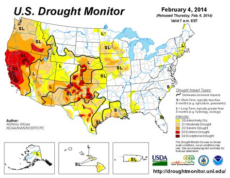 us drought map file usdroughtmonitor4feb2014 png wikimedia commons