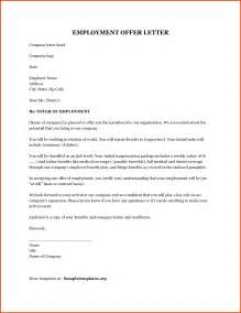 Offer Letters From Employer Offer Of Employment Letter Proposalsheet