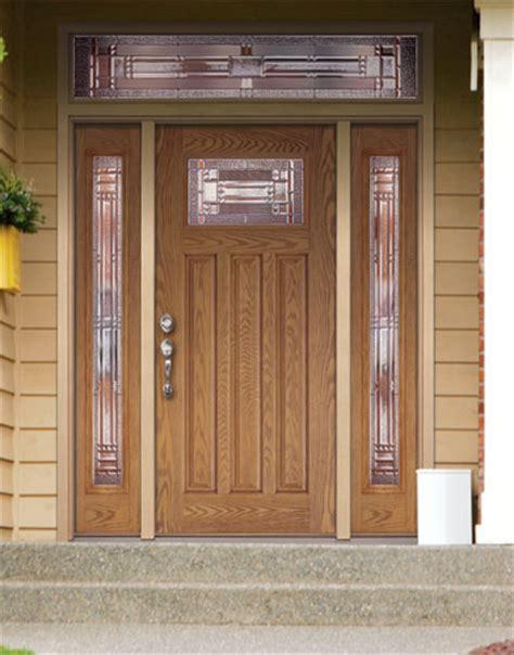 Feather River Door Fiberglass Entry Doors Light Oak Door Feather River Exterior Doors