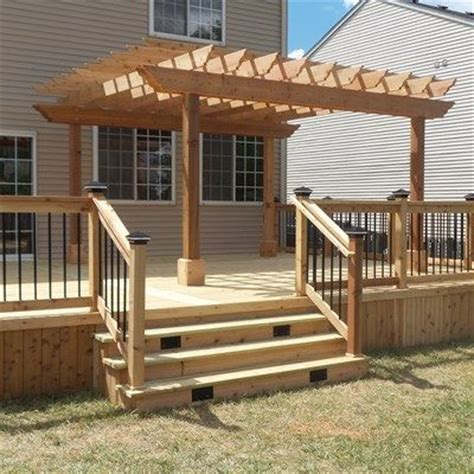 deck pergola ideas 25 best ideas about deck pergola on front