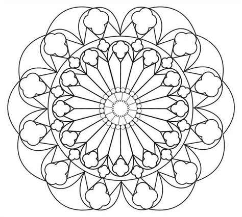 relaxing mandala coloring page simple  large spaces