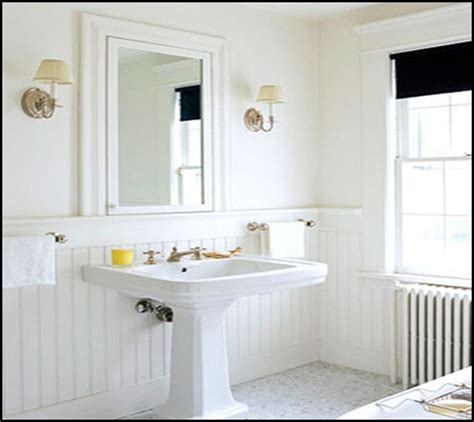 beadboard wainscoting bathroom powder room for the home