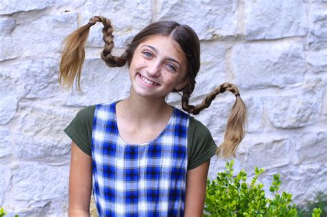 easy hairstyles dads can do dad shows how to create pippi longstocking braids cute