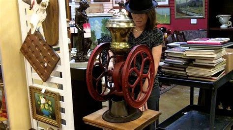 Antique coffee grinder from our antiques mall at Gannon's Antiques & Art   YouTube