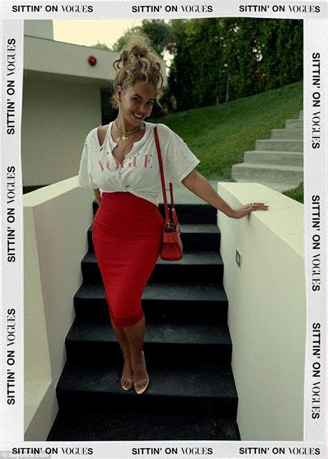 A Peek At Vogues Weekly Top Ten Best Dressed List And by Beyonce Rocks Distressed Vogue Top And Curve Hugging Skirt