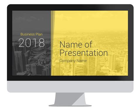 Modern Business Plan Powerpoint Template Presentationdeck Com Modern Powerpoint Templates