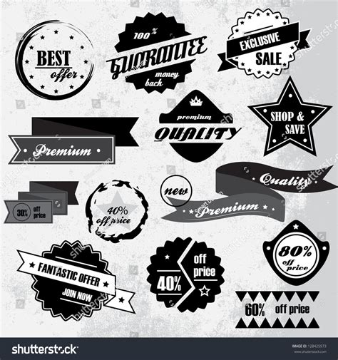vintage classic design label elements vintage design elements labels retro vintage stock vector