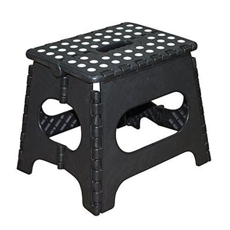 Foldable Step Stool Walmart by Jeronic 11 Inch Plastic Folding Step Stool Black