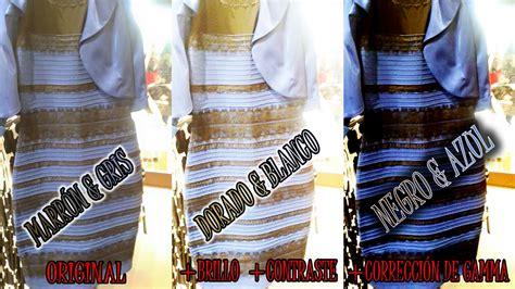 imagenes del vestido blanco y dorado o negro y azul photoshop da respuesta al misterio del vestido blanco y