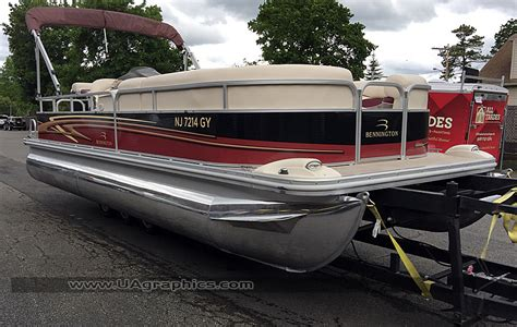 bennington pontoon boat graphics tri state pontoon boat wrap 12 ua graphics
