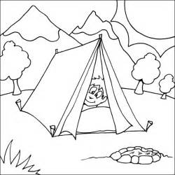 Camping Coloring Pages For Kids Boy Colouring Page sketch template
