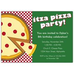 itza pizza invitations paperstyle