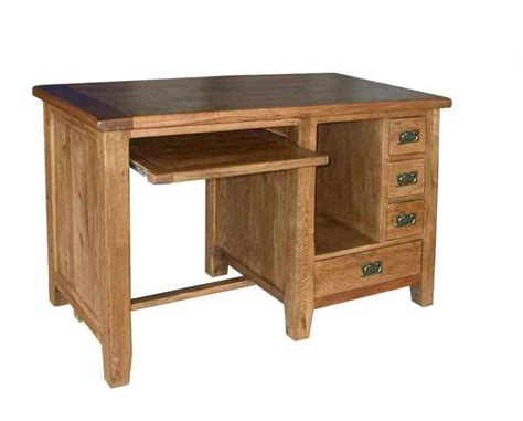 Florence Rustic Oak Computer Desk Blue Ocean Interiors Oak Laptop Desk