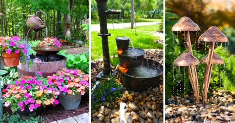 Diy Design Outdoor Fountains Ideas 20 Diy Outdoor Ideas Brightening Up Your Home With Utmost Charm
