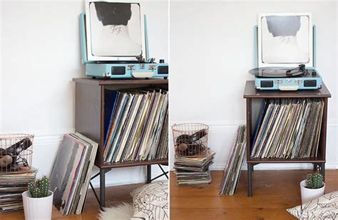 record player table ikea ikea hack record player stand nouvelle daily record