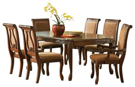 8 piece dining room set steve silver harmony 8 piece oval dining room set in dark